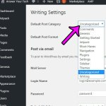 how to set the default category for new posts in wordpress