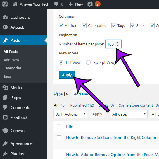 Show Different Posts Per Page