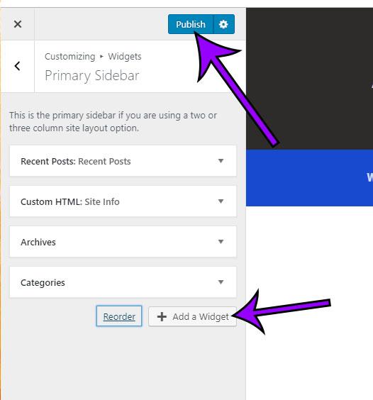 how to edit widgets