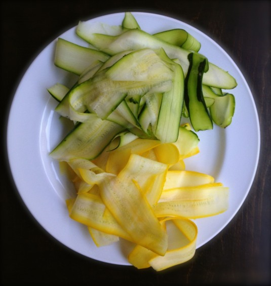 paleo diet challenge day 27 zucchini ribbons