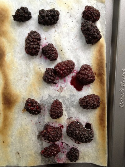 roasted blackberries