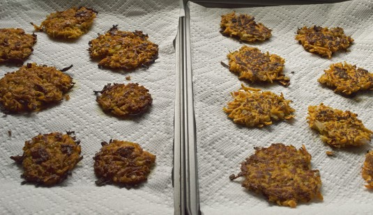 sweet potato latkes oven fried and pan fried