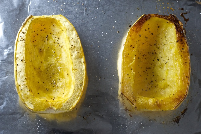 spaghetti squash after roasting