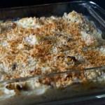cauliflower cheese bake in pan