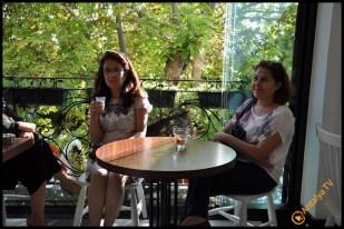 Talya Cafe Bistro- Nuri Alço, Fidan İlteray, Antalya TV, Muhabir Rüya Kürümoğlu (125)