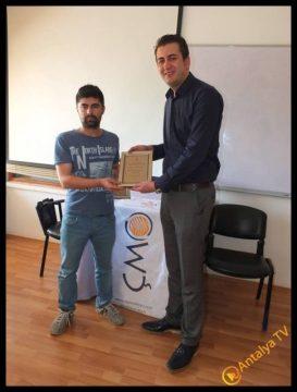 Antalya Gazeteci Mustafa Kahraman  - Çevre Mühendisleri Odası Antalya Şube Başkanı Erdal Özdemir (2)