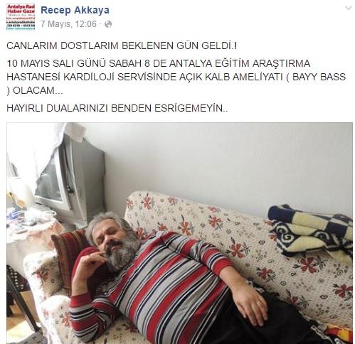 Usta Gazeteci Recep Akkaya, Doğduğu Gün Sabaha Karşı Geçirdiği Kalp Krizine Yenik Düştü.