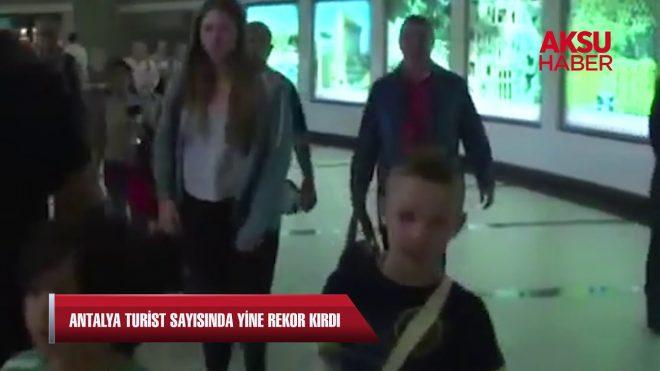 Antalya turist sayısında yine rekor kırdı...