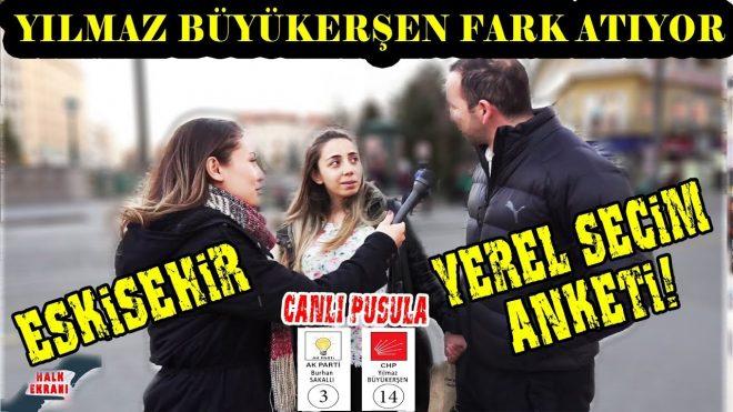 Eskişehir'de Yılmaz Büyükerşen Fark Atıyor! İşte Eskişehir Yerel Seçim Anketi!