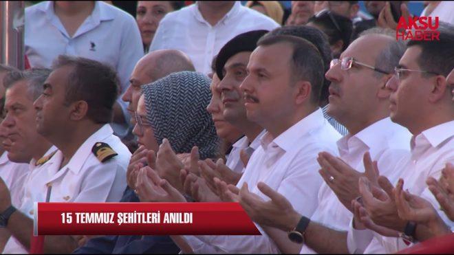 Antalya, 15 Temmuz Şehitlerini andı…