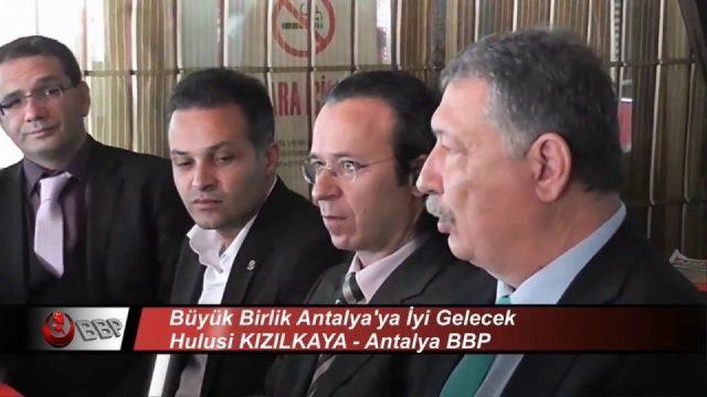 Kadın Sığınma Evlerinin Sayısı Arttırılacak - Hulusi Kızılkaya BBP Antalya Adayı