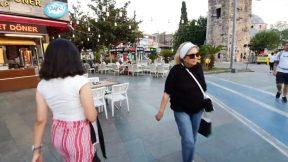 Antalya Kalekapısı Kapalı Yol Girişi Saat Kulesi