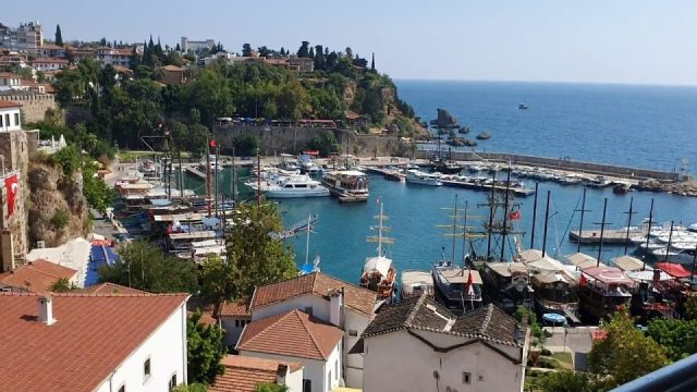 Yat Limanı Antalya Deniz Manzarası İskele Kaleiçi Antalya Gezilecek Yerleri Tatil
