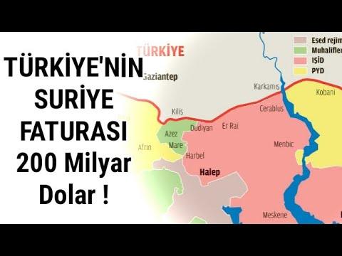 Suriye politikasının Türkiye'ye faturası 200 milyar dolar !