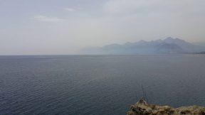 Antalya Deniz Manzarası - Atatürk Parkı Falezlerden Denizi Seyret Antalya Tatil Gezi Tur