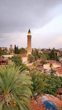 yivli minare aksam manzarasi antalya kalekapisi kaleici manzaralari (1)