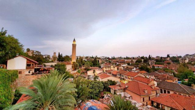 yivli minare aksam manzarasi antalya kalekapisi kaleici manzaralari (2)