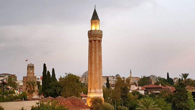 Yivli Minare Akşam Manzarası Antalya Kalekapısı