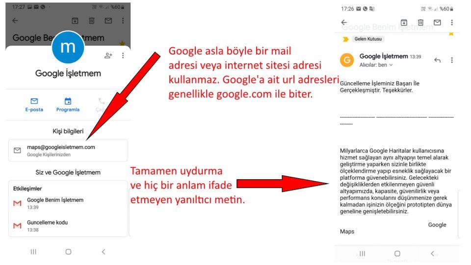 google dan mektup geldi diyerek dolandırıyorlar (1)