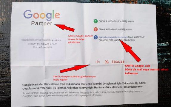 Google'dan mektup geldi diyerek dolandırıyorlar !