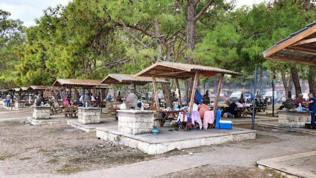 Topçam Antalya Piknik Mangal Alanları Deniz Manzarası (15)