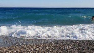 Antalya Konyaaltı Sahili Deniz Manzarası ve Dalga Sesleri