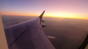 Antalya İstanbul Uçağından Gün Batımı Manzarası