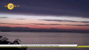Gün Doğumu Öncesinde Topçam Sıçan Adası Manzarası Antalya