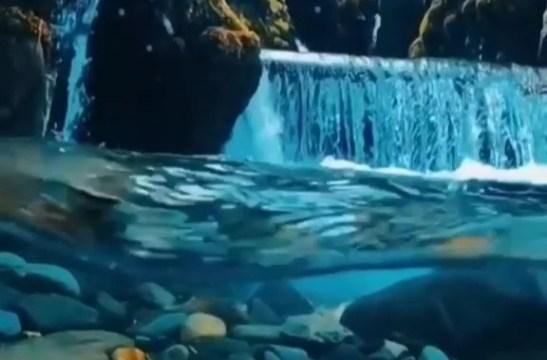 Suyun altındaki güzellik (video)