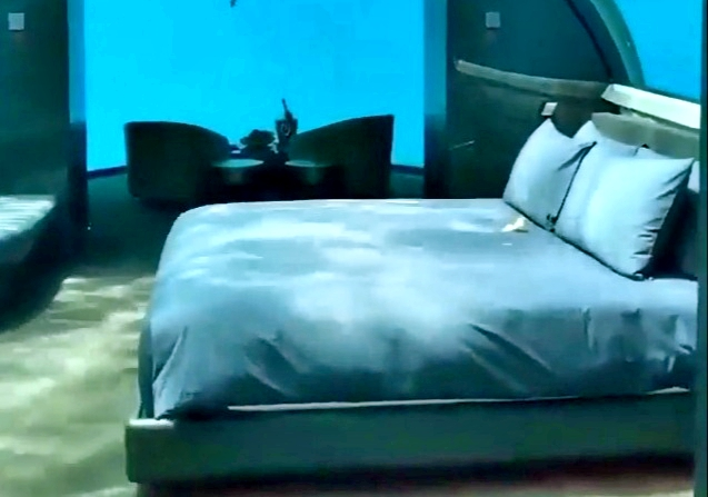 Otel dediğin böyle olur sualtı oteli
