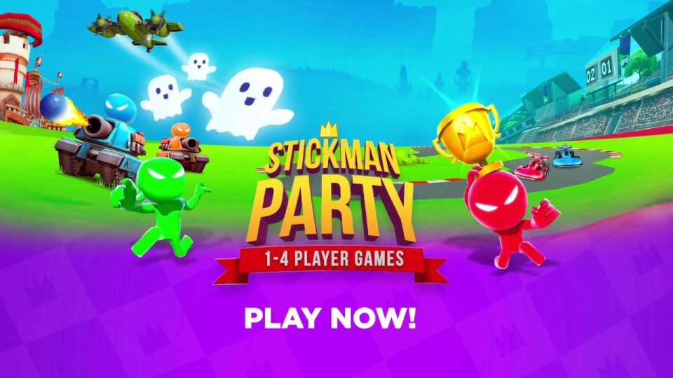Stickman Partisi: 1-4 Oyunculu Oyunlar – Eğlence Oyunu