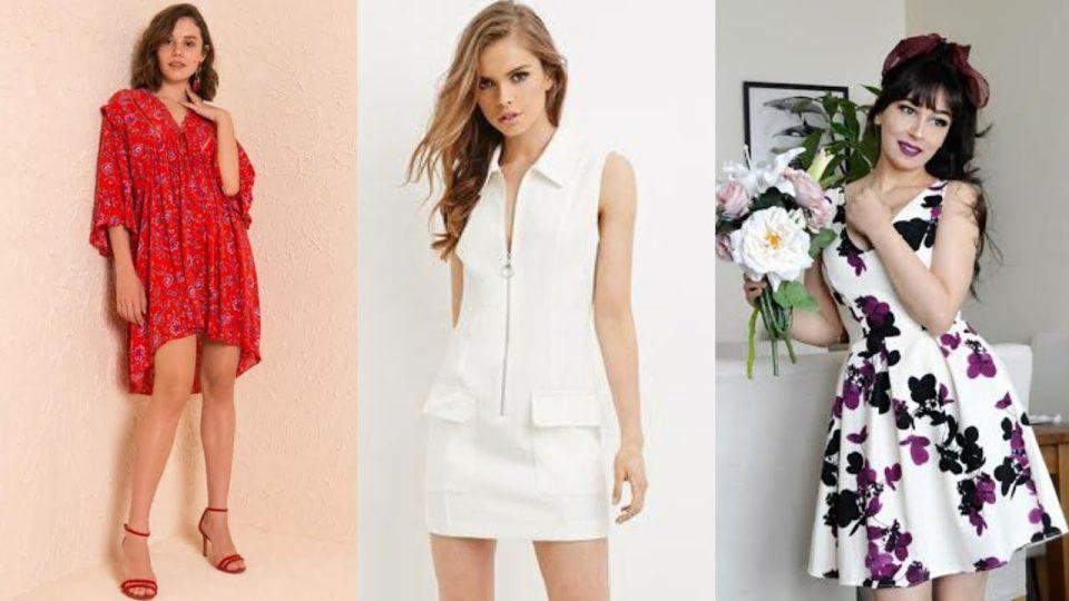 Yazlık elbise çeşitleri bayan giyim elbise kombinleri modelleri