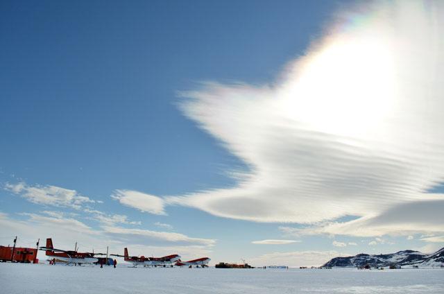 Planes on ice.