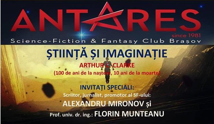 """Eveniment Club Antares: """"Știință și Imaginație"""""""