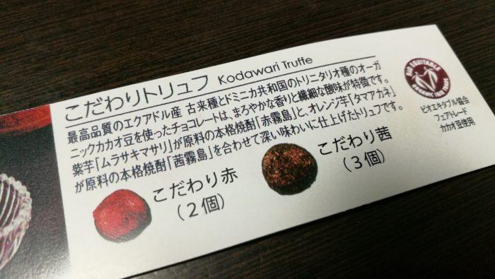 チョコの説明書