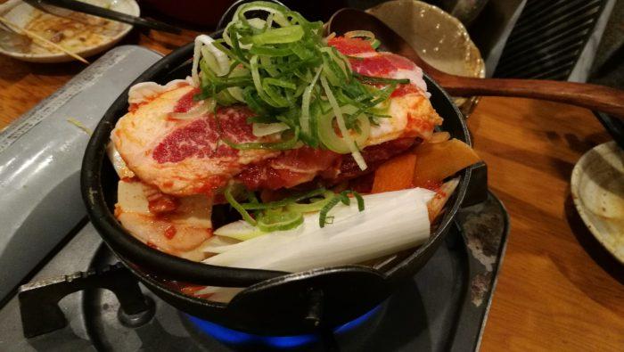 牛の火山鍋