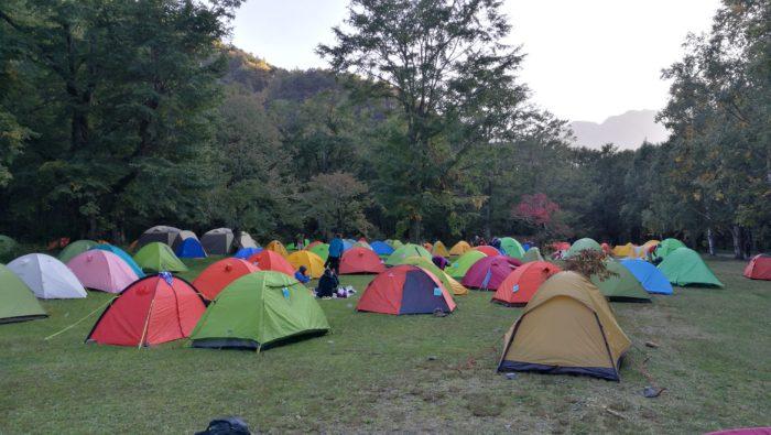 上高地 徳沢キャンプ場