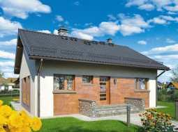 Проект одноэтажного дома с террасой «КО-109»