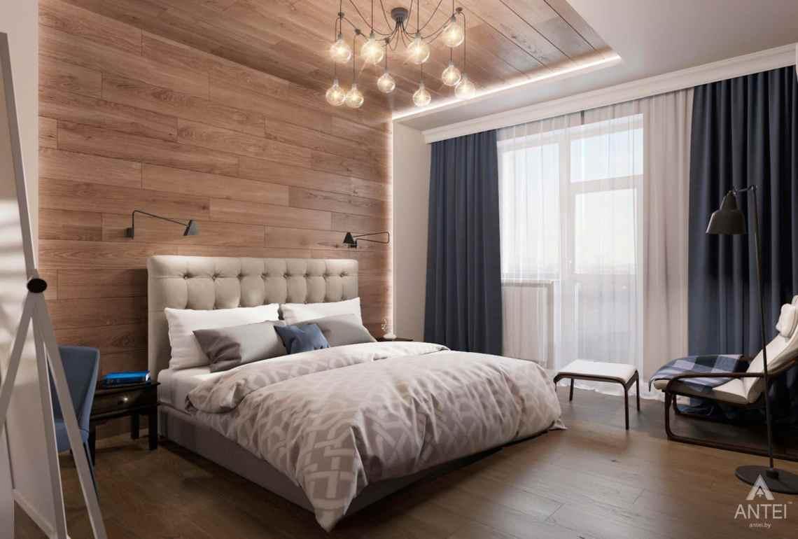Дизайн интерьера трехкомнатной квартиры в Гомеле, ул.Тельмана - спальня фото №1