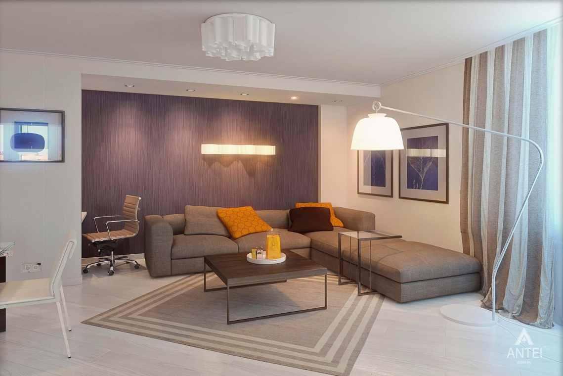 Дизайн интерьера квартиры в России - кухня-гостиная фото №3
