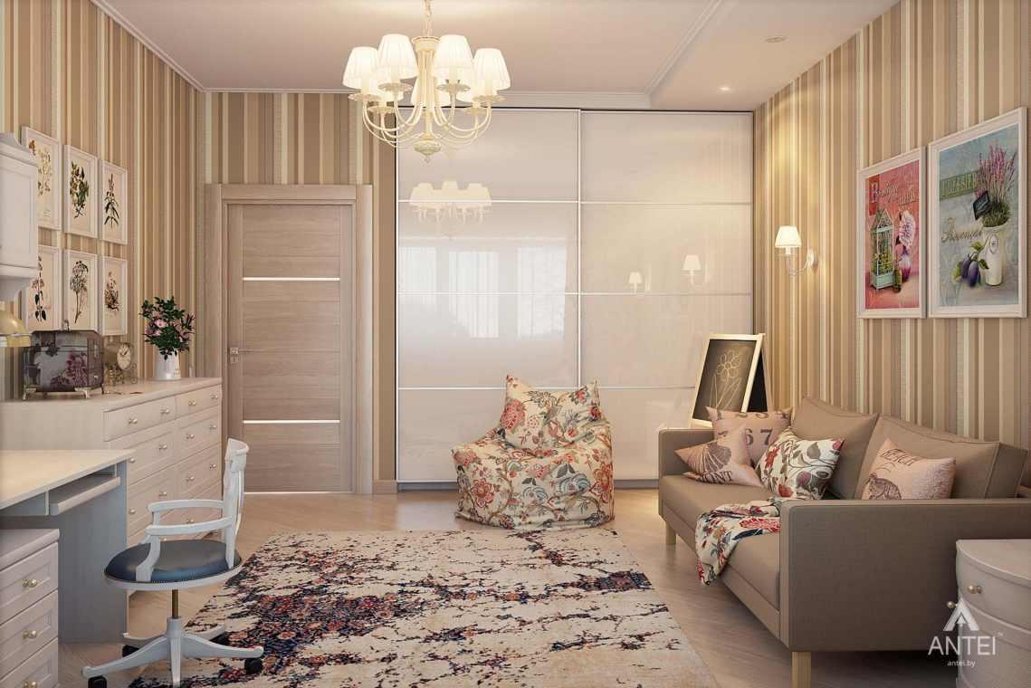 Дизайн интерьера таунхауса в России - детская комната для девочки фото №2