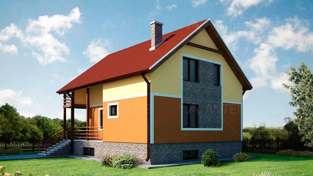 Проект мансардного дома с террасой «КМ-1» - фото №2