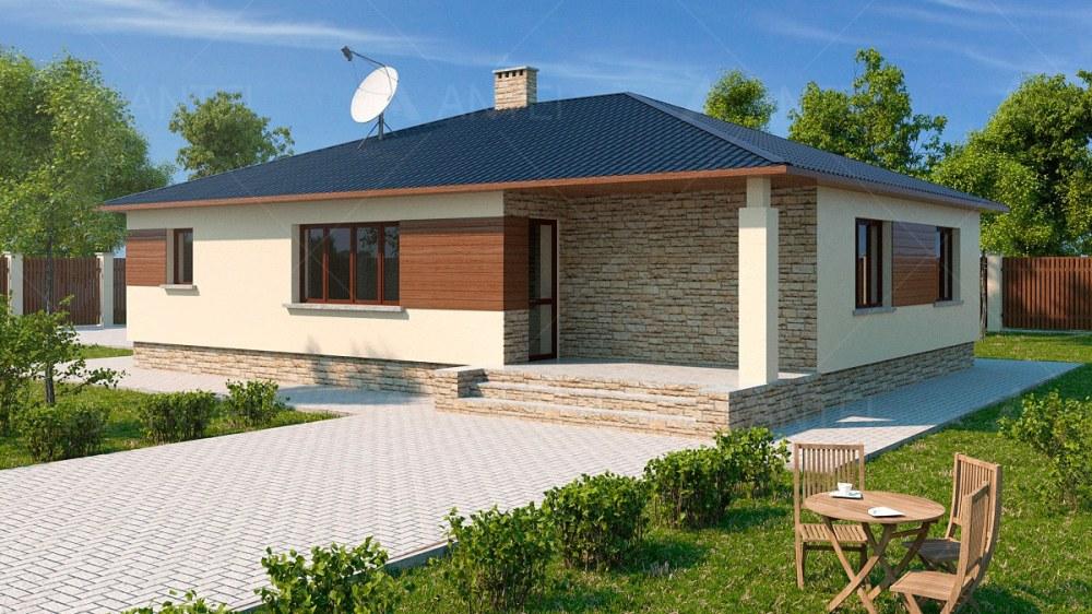 Проект одноэтажного дома с террасой «КО-122» - фото №2
