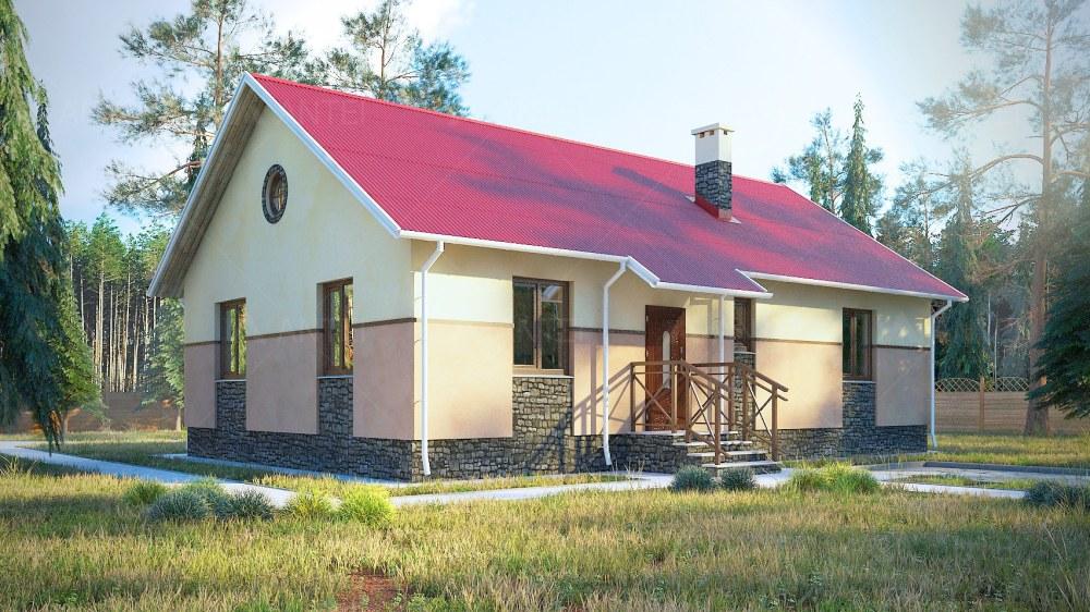 Проект одноэтажного дома «КО-54» - фото №1