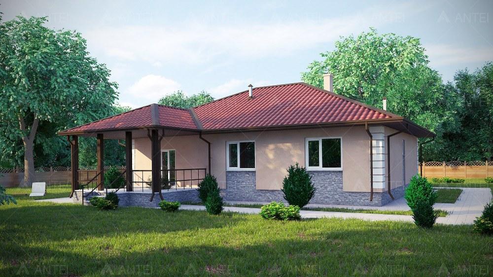 Проект одноэтажного дома с террасой «КО-55» - фото №2