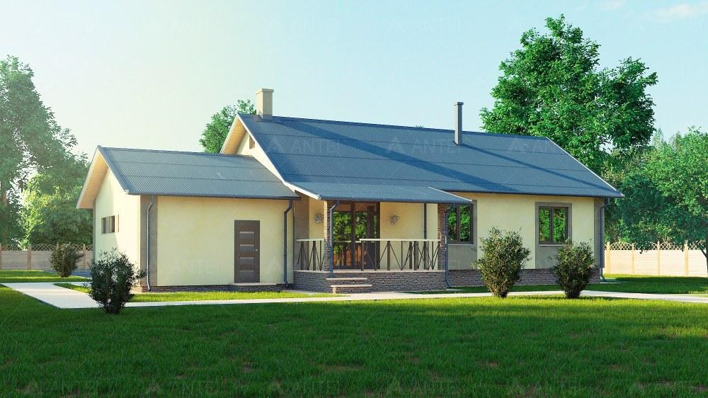 Проект одноэтажного дома с гаражом и террасой «КО-57» - фото №2