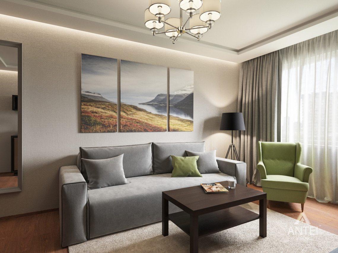 Дизайн интерьера трехкомнатной квартиры в Рогачеве - гостиная фото №2