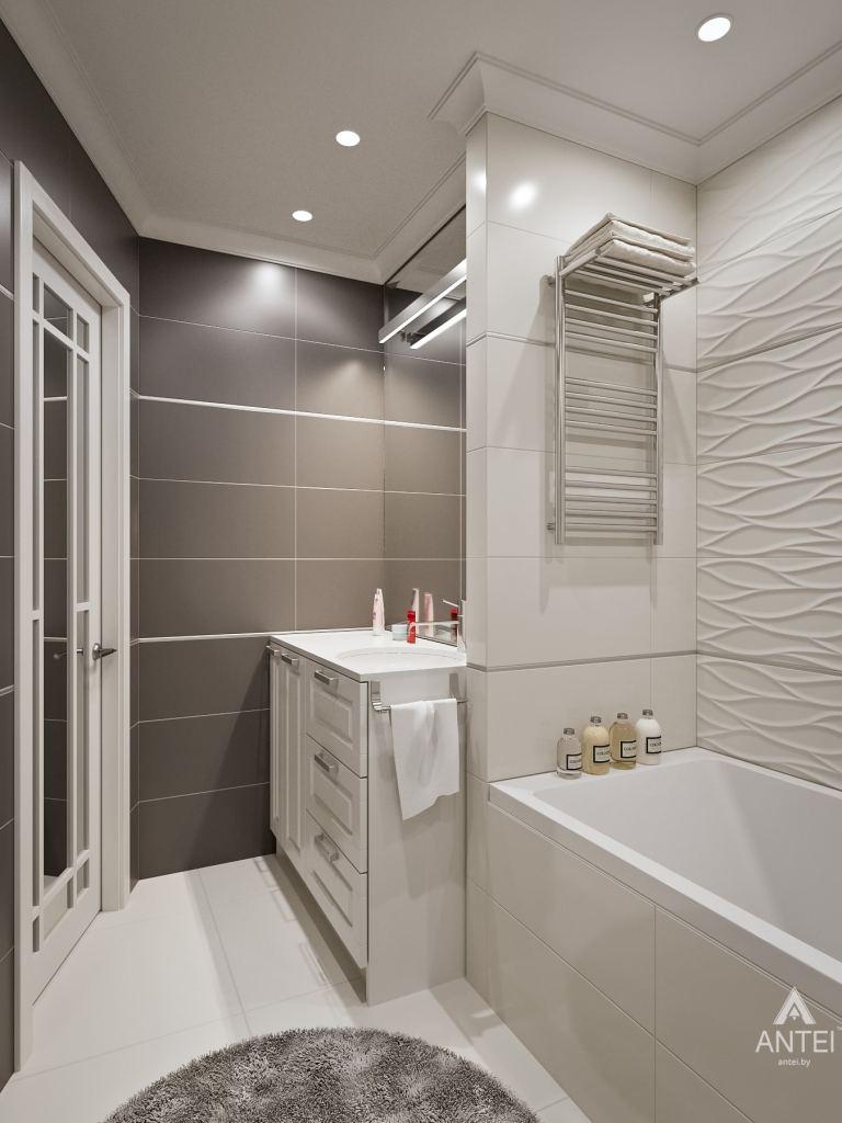 Дизайн интерьера двухкомнатной квартиры в Мозыре - ванная фото №1