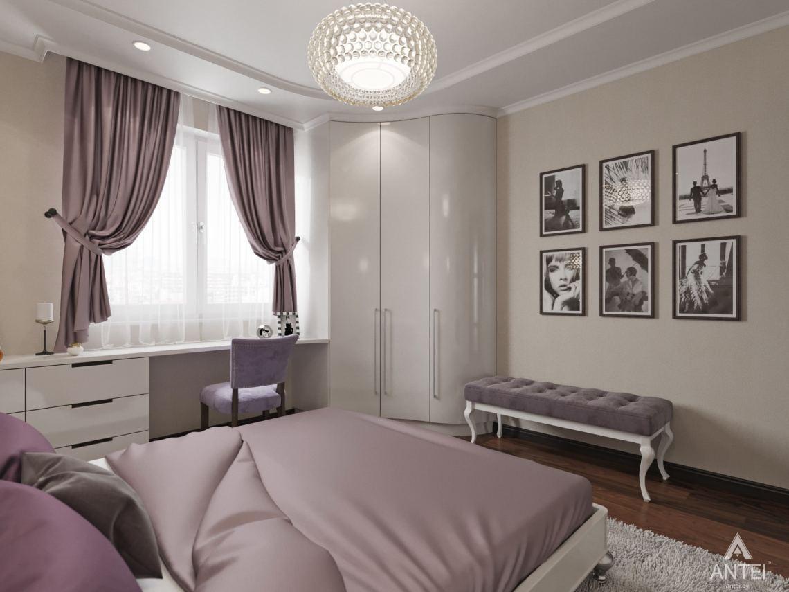 Дизайн интерьера квартиры в Гомеле, ул. Мазурова - спальня фото №2