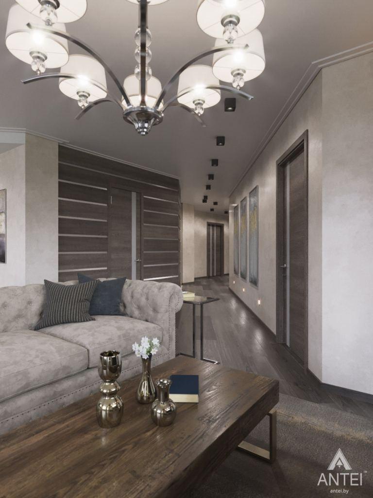 Дизайн интерьера квартиры в Гомеле, ул. Т.С. Бородина - гостиная-кухя фото №5